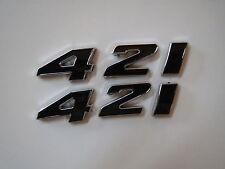 PONTIAC 421 ENGINE ID FENDER HOOD SCOOP QUARTER PANEL TRUNK EMBLEMS - BLACK