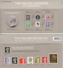 GB Presentation Pack 541 2017 MACHIN DEFINITIVE 50TH ANNIVERSARY 2 SHEETS