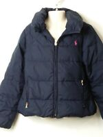 GIRLS POLO RALPH LAUREN AGE 8-10 YEARS BLUE PADDED QUILTED COAT JACKET KIDS