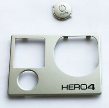 Original GoPro Hero 4 Original Optical Front Plate Cover with Button Key Silver