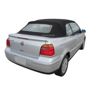 Volkswagen Cabrio 2001-2002 Convertible Soft Top & Heated Glass Window Black CAB