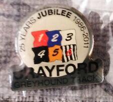 Crayford Greyhound Track - 25 Years Jubilee Pin Badge 2011