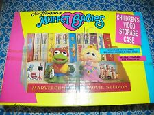 "NEW 1989 Vintage Jim Henson's ""MUPPET BABIES"" Children's Video Storage Case VHS"