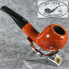 ORIGINAL SMOKING PIPE HANDMADE in POLAND by MASTER H.WOROBIEC nr.134 SMOOTH TEAK