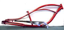 "26"" Fantasy Stretch Beach Cruiser Bike Frame Red"