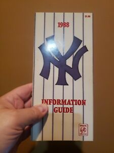 1988 New York Yankees Information Guide