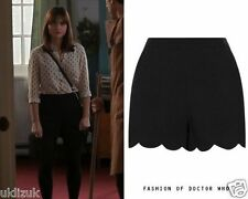 Topshop Cosplay Black Scallop Hem Shorts - Size 8