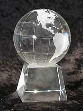 80mm Glass Globe/Sphere/World, on Stand w/Gift Box