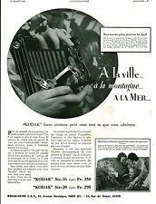 Publicité ancienne appareil photo Kodak 1933 issue de magazine