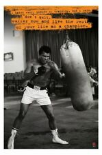 """MUHAMMAD ALI POSTER """"DON'T QUIT, BE A CHAMPION"""" LICENSED """"BRAND NEW"""