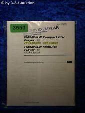 Sony Bedienungsanleitung CDX C8000RX /C8000R / MDX C8500R (#3553)