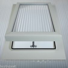 Conservatory Roof Vent For 25mm Polycarbonate Sheet with Easy Access Hinge