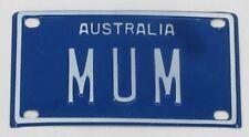 MUM NOVELTY NAME MINI TIN AUSTRALIAN LICENSE NUMBER PLATE