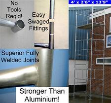 "DIY Scaffold Tower 6.0m (4 'x 2'6""x 19'9"" WH) Galvanised Steel"