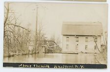 RPPC Above Roller Mill BRADFORD NY Vtg Steuben Cty New York Real Photo Postcard
