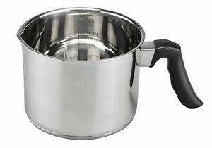Milchtopf 1,5l aus Edelstahl - Wasserbad Topf Simmertopf Schmelz Topf Milch