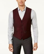 Inc Men's Slim-Fit Vest, suit formal business  button