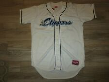 Columbus Clippers #11 Minor League MLB Game Worn Used Rawlings Jersey