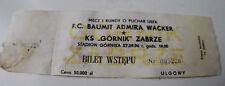 Ticket for collectors EC Gornik Zabrze Admira Wacker Wien 1994 Poland Austria