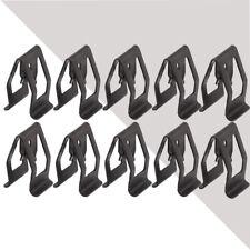10Pcs Universal Car Front Console Dash Dashboard Trim Metal Retainer Black Auto