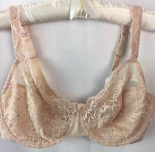 dec977972d058 Bali Bra Size 40D Desire 6543 UW Champagne Shimmer Floral Sheer Lace E25