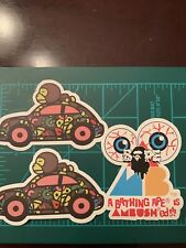 Lot Of 3 Bathing Ape Baby Milo Skateboard Sticker Laptop Cell Phone Decal A