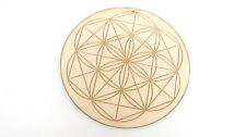 Baltic Birch Flower of Life Grid Board 8in Healing Crystals Protection Blessing