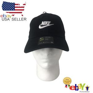 Nike Heritage86 Youth Unisex Black & White Strapback Adjustable Hat AJ3651-010.
