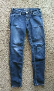Silver Suki Jegging Skinny Top Stitched Dark Wash Women's Jeans 28 x 31