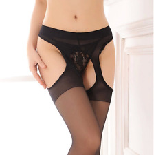 Women Sheer Sexy Fashion Lace Top Thigh-Highs Stockings Garter Belt Suspender