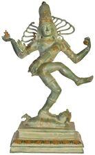 """JAI Shiva Nataraja Dance 26.8"""" Hindu Vintage Large Brass God Statue Figure 18 KG"""