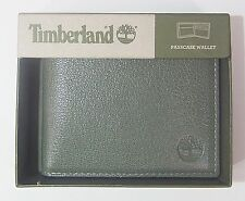 Timberland Men's LEATHER FINE BREAK PASSCASE Wallet Concrete D84218-30