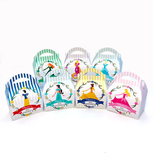 Disney Princess Personalised Children Party Boxes Gift Favour 1ST CLASS POST
