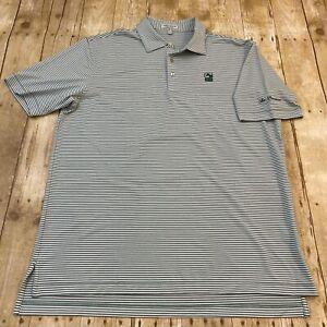 Peter Millar Summer Comfort Green Performance Polo Golf Shirt Large Braemar Golf