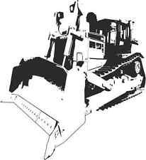 Vinyl Wall Art Caterpillar D8 Crawler Dozer, Garage Man Grotta Ragazzi Regalo