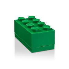 LEGO mini 8 plots boîte à dragées, bonbons, baptême Vert Green Grün Box