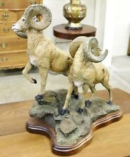 Lorenzo Ghiglieri Look Out Signed Sheep Bronze Sculpture Limited Edition Signed