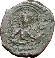 JESUS CHRIST Class K Anonymous Virgin1081AD CRUSADE Byzantine Follis Coin i48092