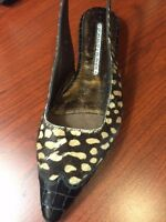 DONALD PLINER Orsa Cheetah Hair Antique Alligator Shoe6