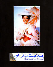 Julie Andrews Autographed Mat Piece! Mary Poppins! Sound of Music! Very Rare!