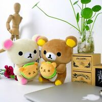 2PCS Rilakkuma Bear Relax Plush Toy Cute Japan San-x Doll Kid Birthday Gift 20CM