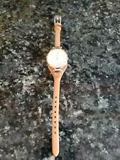 FOSSIL ES3565 Women's Tan/Brown Leather Round Dial Gold Tone Womens Watch