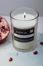 Candle Gift Set Luxury Pomegranate Scented Soy Wax & Inspirational Quote