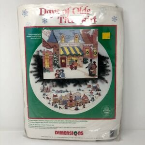 Dimensions Counted Cross Stitch Kit Days of Olde ChristmasTree Skirt