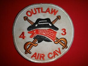 US Army 4th Squadron 3rd Armored CAVALRY Regiment OUTLAW AIR CAVALRY Patch