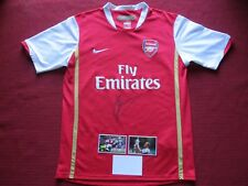 2f27946b7 ARSENAL GUNNERS LEGEND DENNIS BERGKAMP SIGNED NIKE HOME SHIRT JERSEY -NEW -  COA