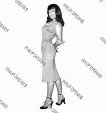 Vintage 1950s A4 Photo Poster Print of Burlesque Pin-up Queen Bettie Page 03,