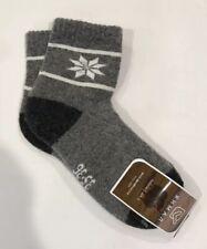 Yak wool Blend women's socks Thermal warm Christmas Grey Black 35-36 S Mongolia