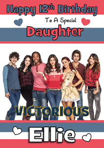 VICTORIOUS NICKLEODEON personalised A5 Birthday card ANY - AGE / RELATION / NAME
