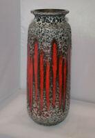 Scheurich Keramik 206-27 design  60s 70s WGP Vase Fatlava Vintage artpottery MCM